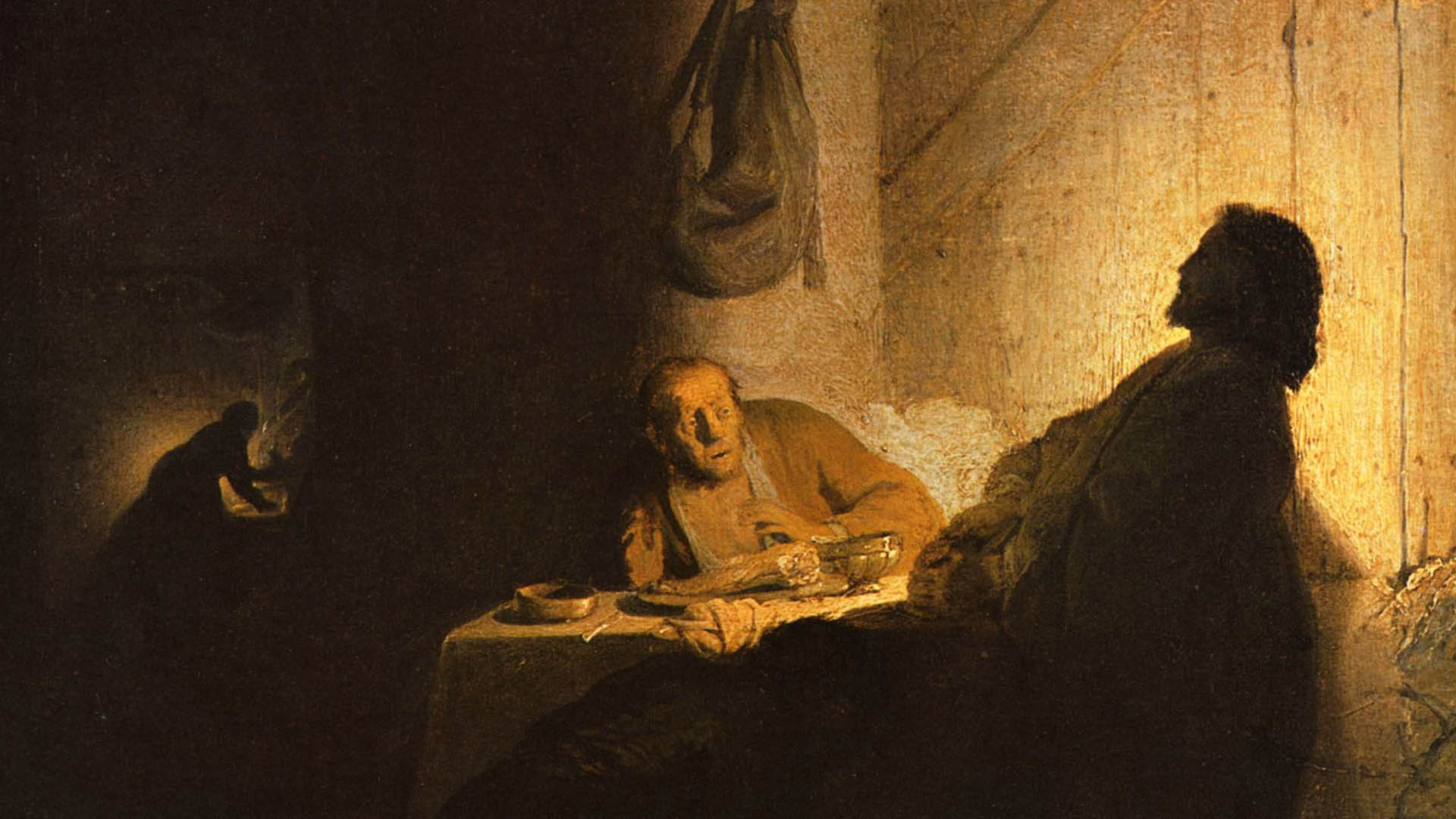 Illustratie: Rembrandt  | Christus in Emmaus
